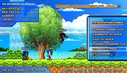 (Sonic vs Darkness) Online Multiplayer Lobby