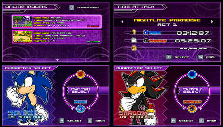 (Sonic vs Darkness) New Menu Design Compilation P2