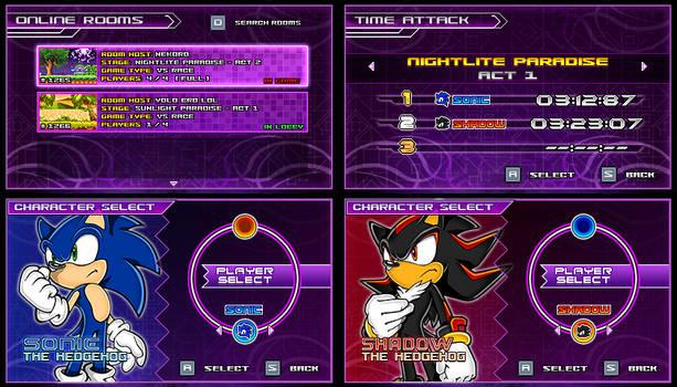 (Sonic vs Darkness) New Menu Design Compilation P2