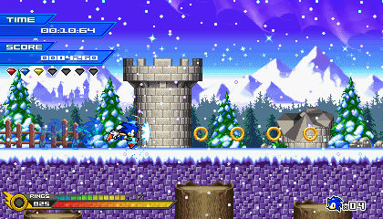 (Sonic vs Darkness TNR) Winterpeak Valley Mockup