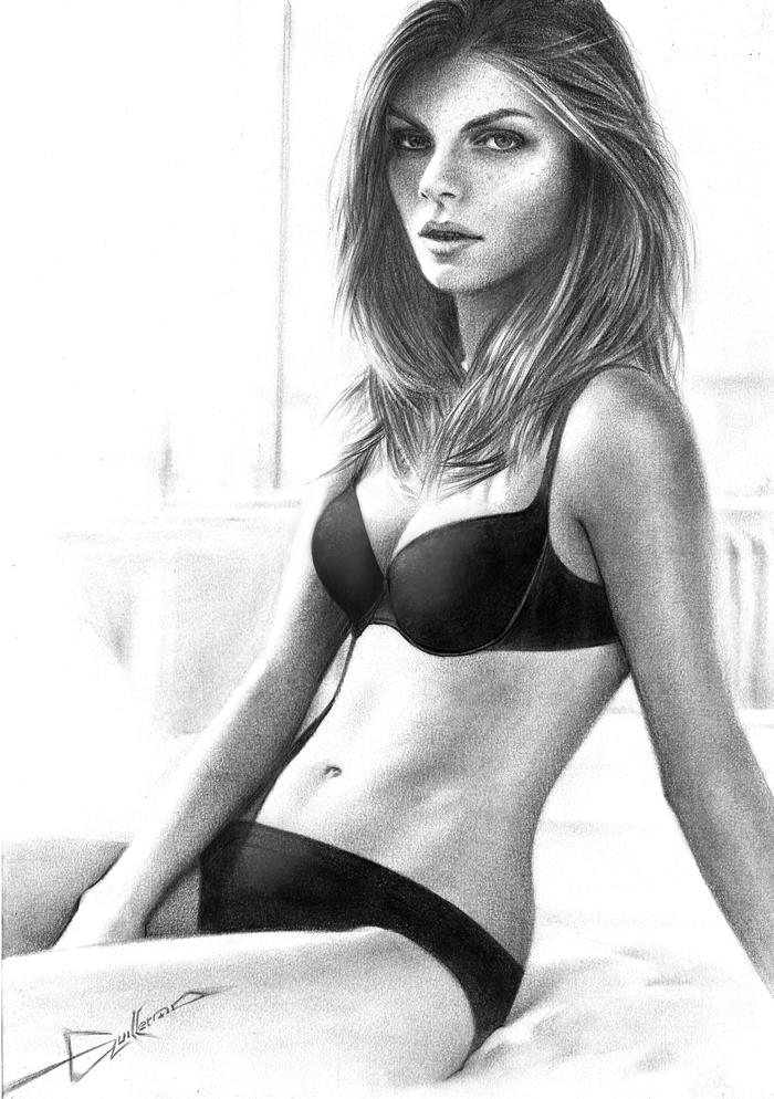Sensualidad hermosa mujer dibujo a lapiz by vuljevas d5k70ea jpg