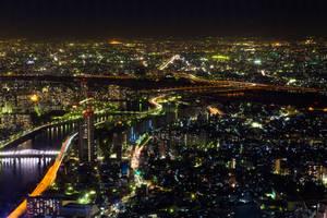 Night View form Tokyo SKYTREE 1 by juju--juju