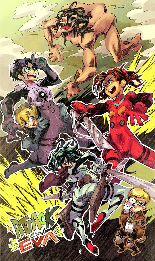 Attack on Evangelion by Rafchu