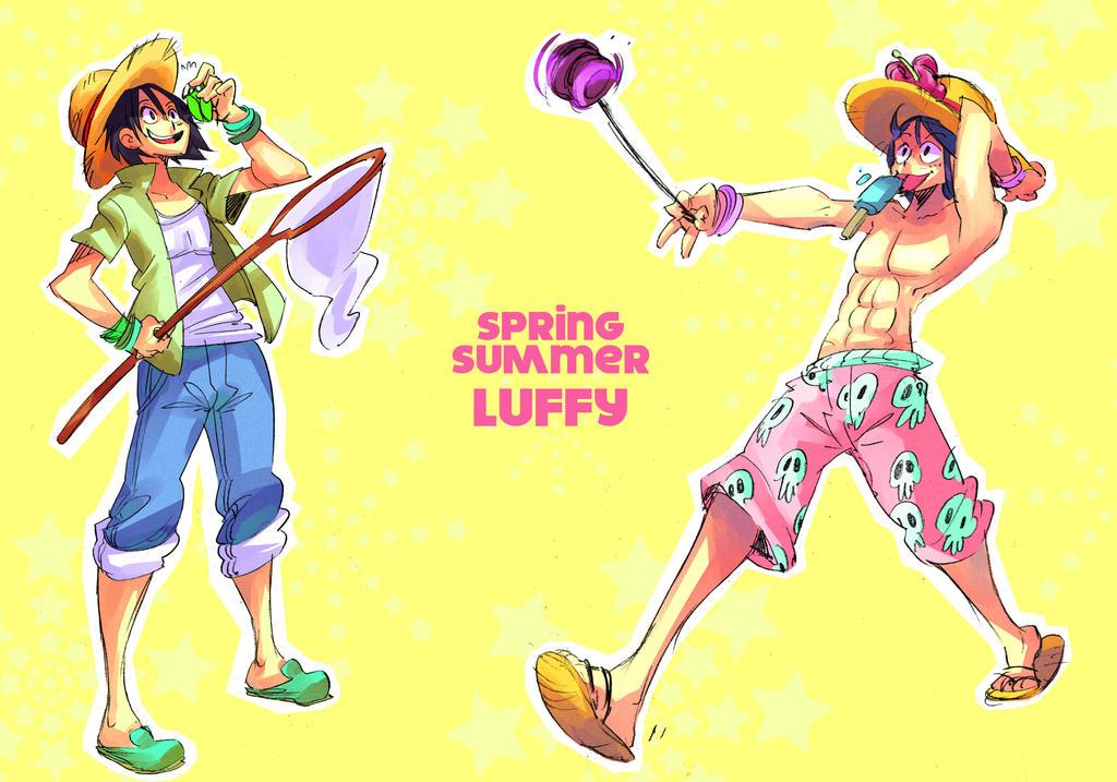 One Piece fashion fanart : Luffy by Rafchu