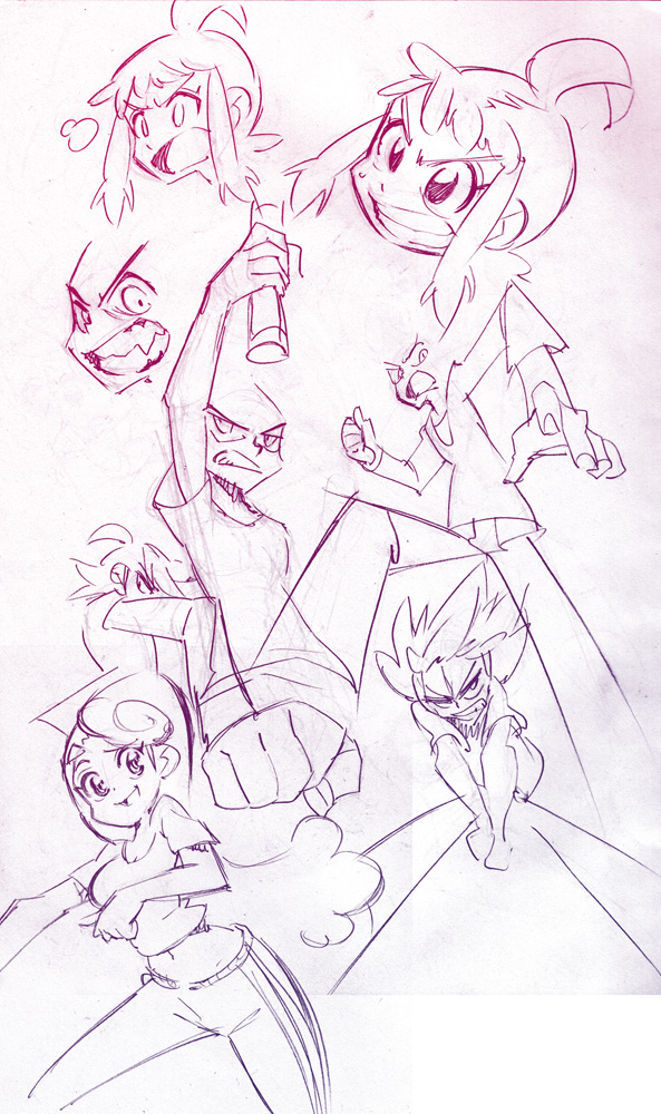 Console Girl doodles! by Rafchu