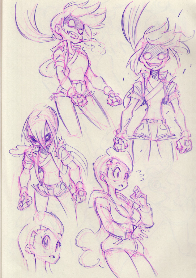 Console Girl #14 doodles! by Rafchu