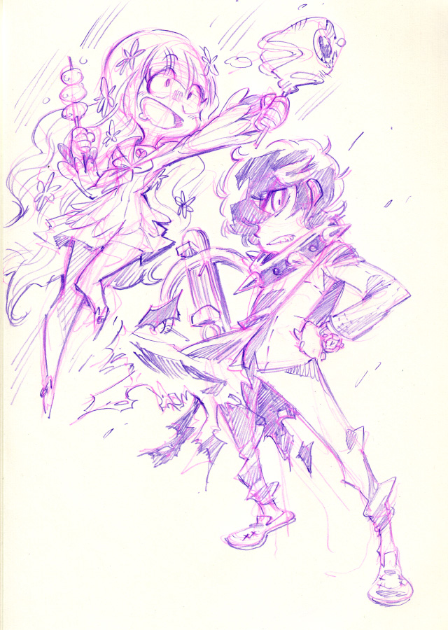 Persona Q : Zen and Rei by Rafchu