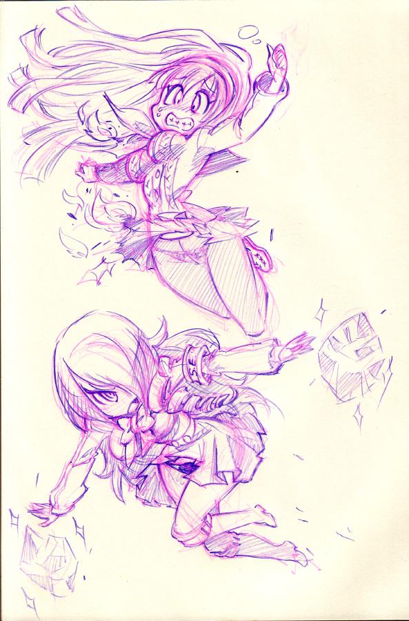 Persona Q : Yukiko (P4) and Mitsuru (P3) by Rafchu