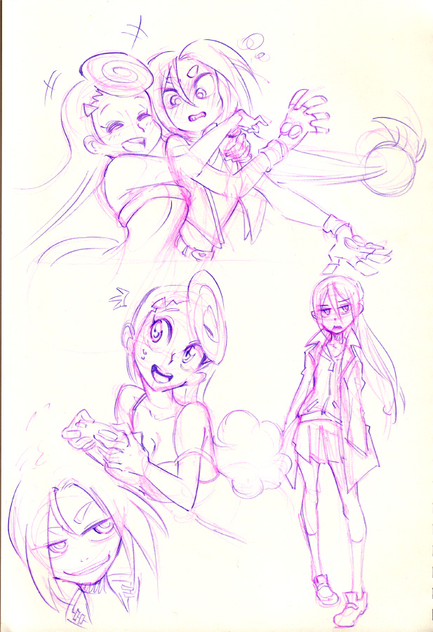 Console Girl #15 doodles! by Rafchu