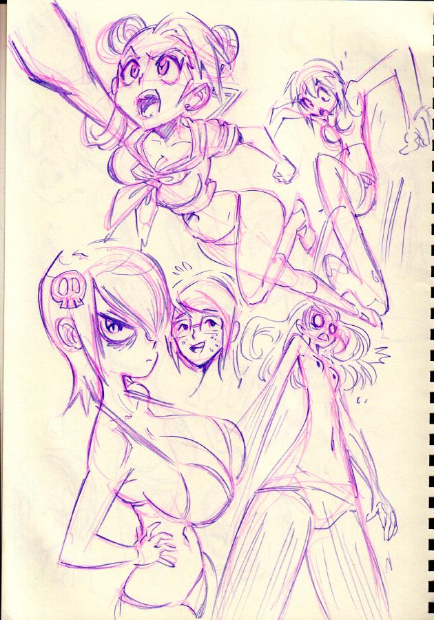 Random grrrls! by Rafchu