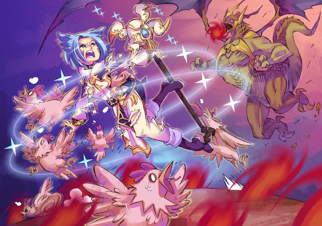 Final Fantasy XIV commission by Rafchu