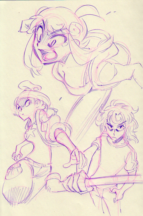 Console Girl #18 doodles! by Rafchu