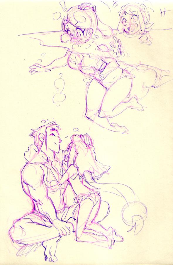 Console Girl bikini episode doodles by Rafchu
