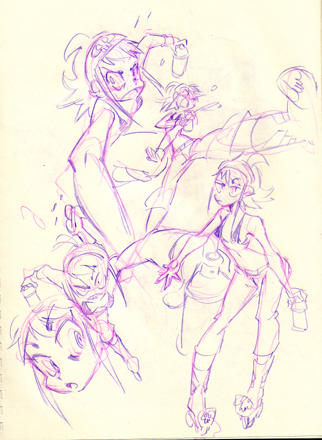 Debaser : Mathilda the street artist! by Rafchu