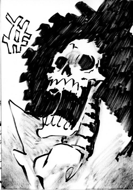 One Piece Halloween Inktober : Brook by Rafchu