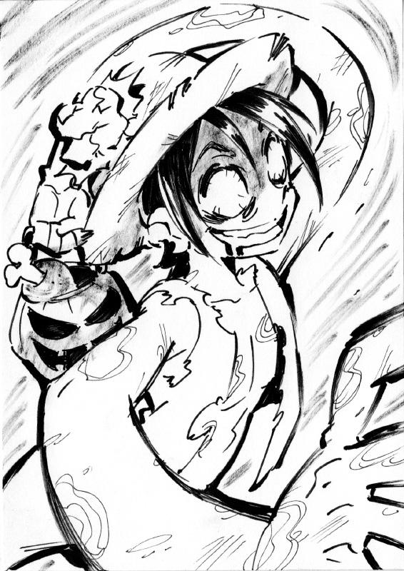 One Piece Halloween Inktober : Luffy by Rafchu