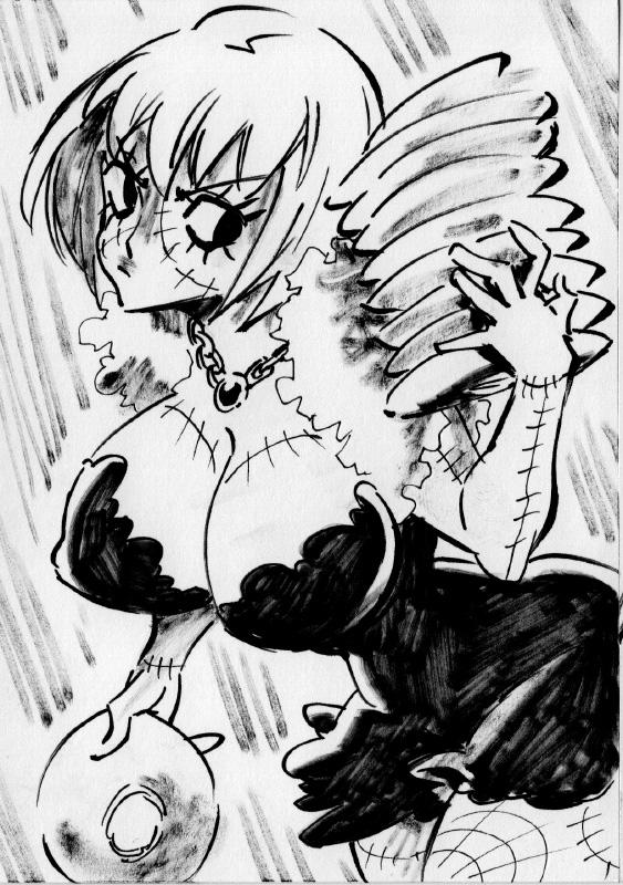 One Piece Halloween Inktober : Shindori by Rafchu