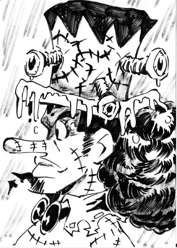 One Piece Halloween Inktober : Usopp by Rafchu