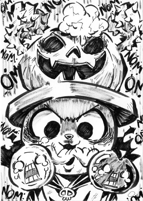 One Piece Halloween Inktober : Chopper by Rafchu