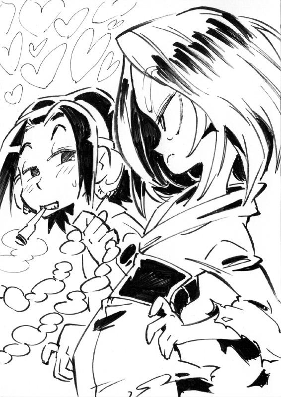 Shaman King Inktober by Rafchu