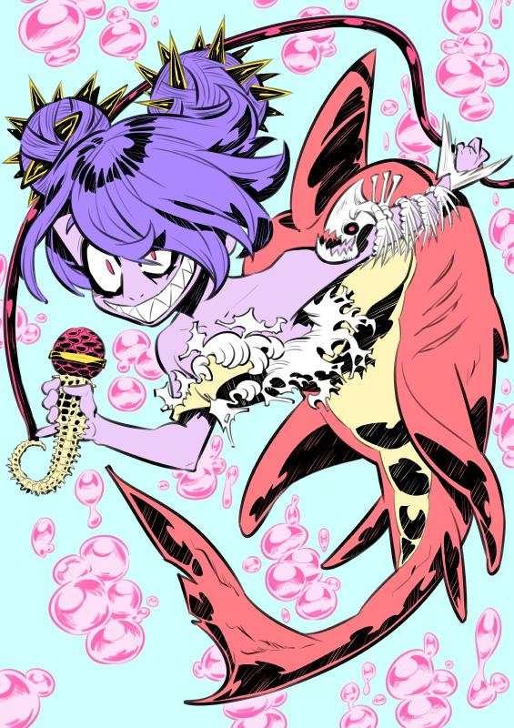 Monster girls challenge : Mermaid by Rafchu