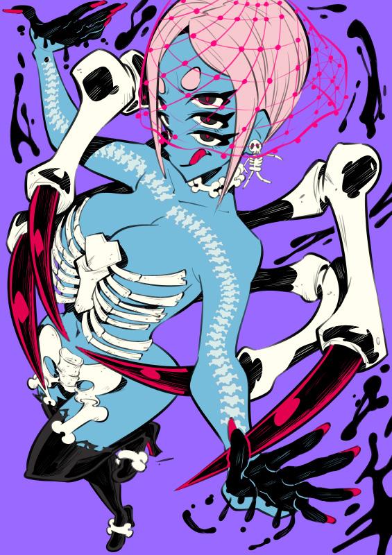 Monster girls challenge : Spider girl by Rafchu