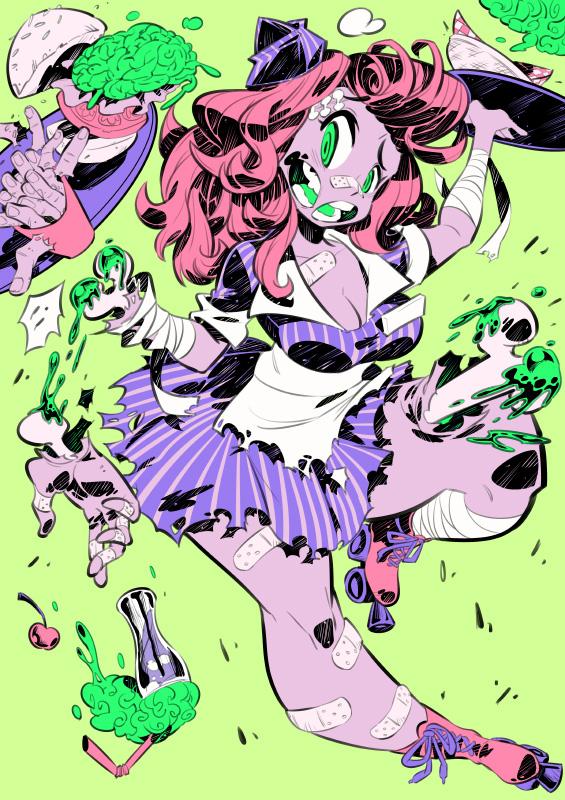 Monster girls challenge : Zombie by Rafchu