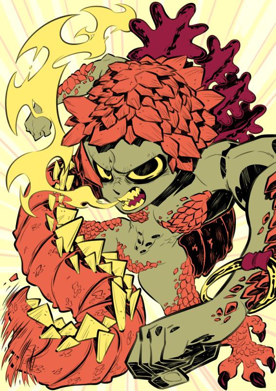 Monster girls challenge : Reptile girl by Rafchu