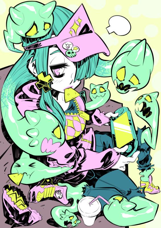 Monster girls challenge : Ghost by Rafchu