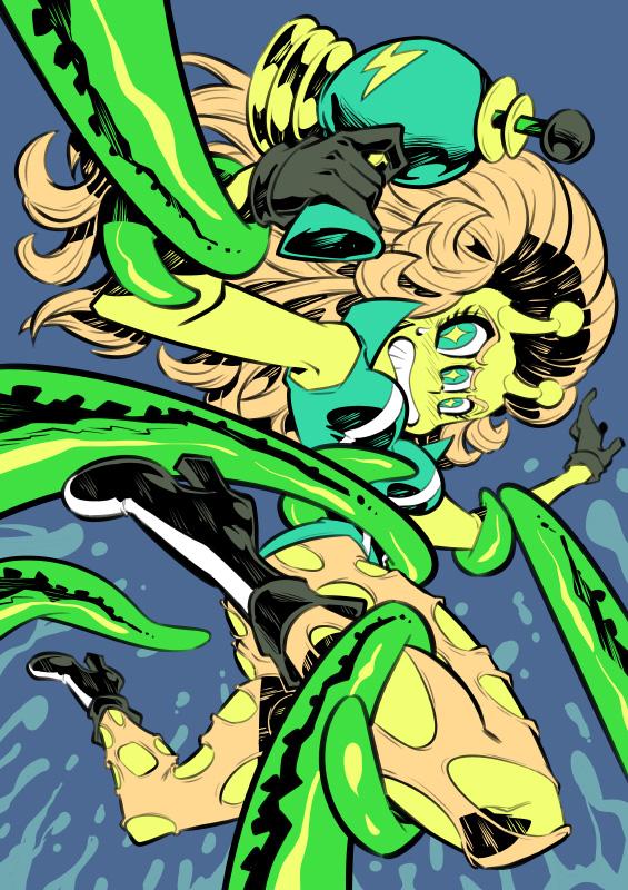 Monster girls challenge : Alien by Rafchu