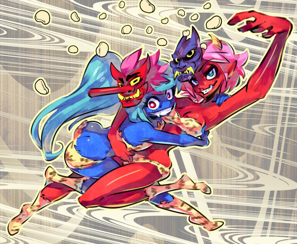 Happy Setsubun! by Rafchu