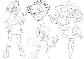 Violet sketches