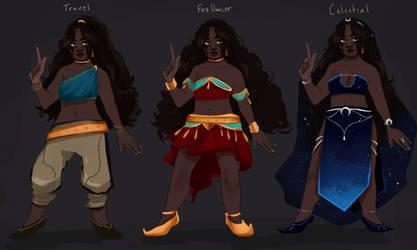 Saffron's Outfits