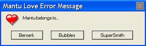 Mantu Love Error Message