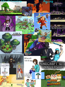 Minecraft 10th Anniversary MegaCollab Collage 2019