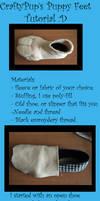 Plush animal feet tutoial