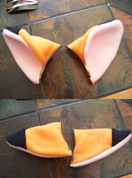 Fleece Fox Ear Hair Clips
