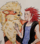 Axel and his Arcanine.