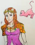 Princess Zelda with Mew