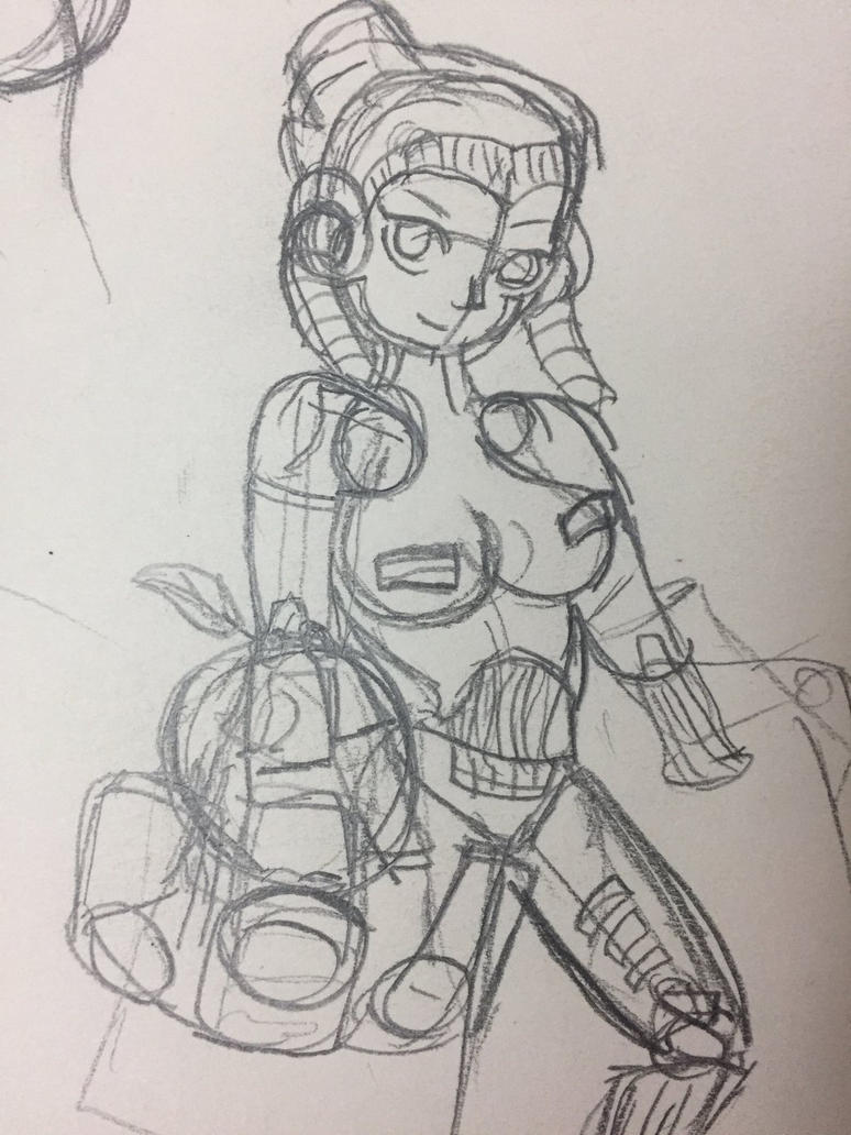 Gynoid Model-002_Sketch  by BlackMegaMan2004