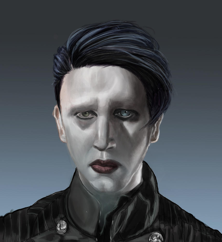 Marilyn Manson Hair 3 by Poisoned-Paint
