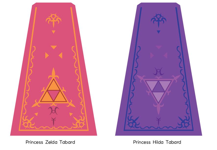 Zelda and Hilda's Tabard by GothLoliChanKaru