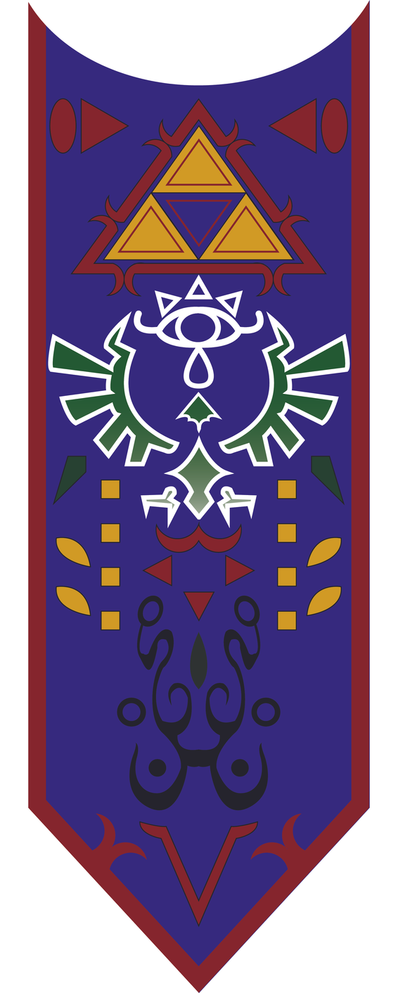 Ocarina of Time Zelda's Tabard vector by GothLoliChanKaru