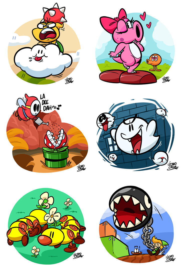 Mario Enemies by art-ikaro