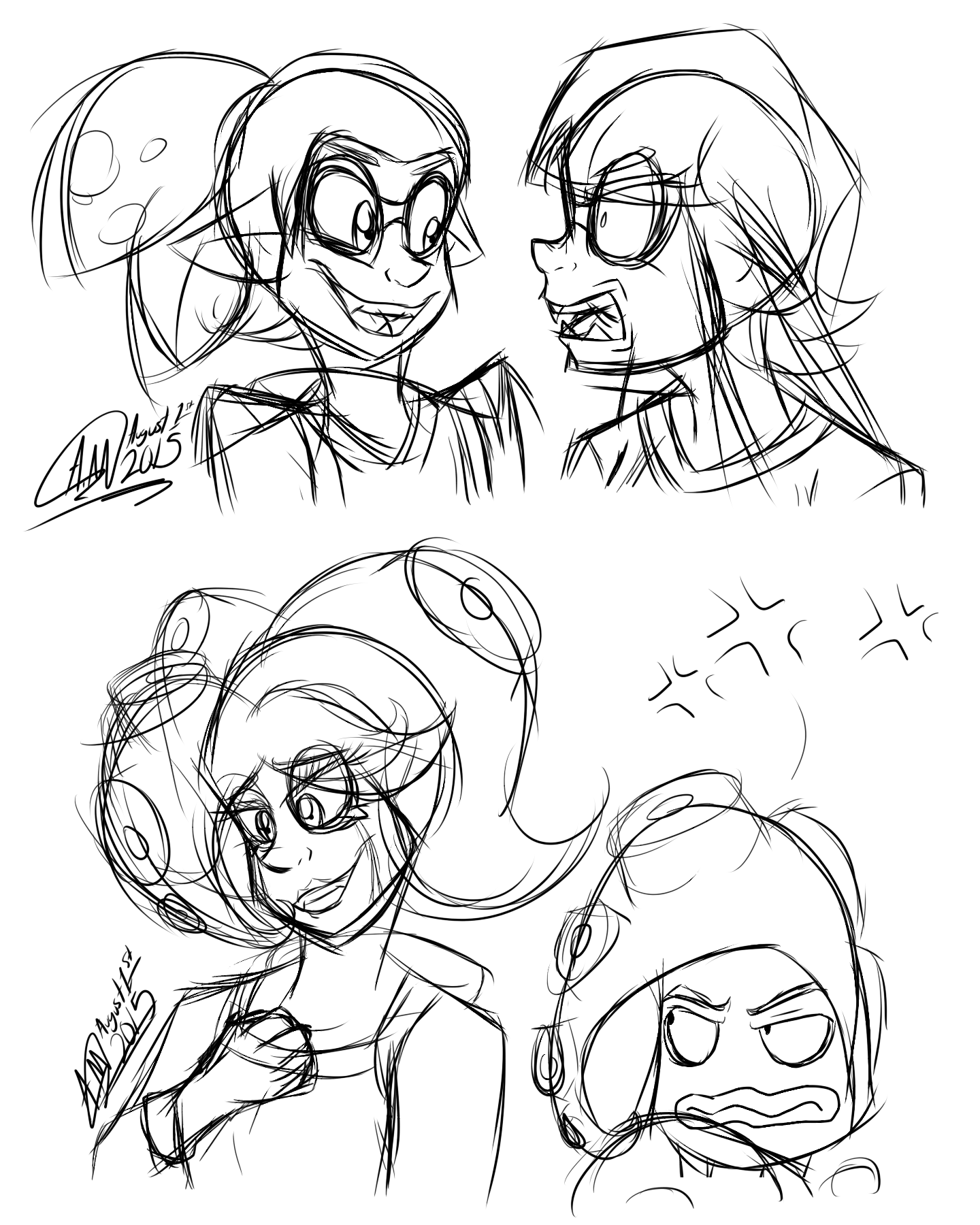Splatoon sketch dump by asher ghostface on deviantart for Splatoon coloring pages