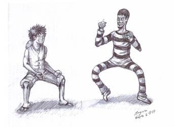 One Piece Luffy and Bon-chan by Saylom1234