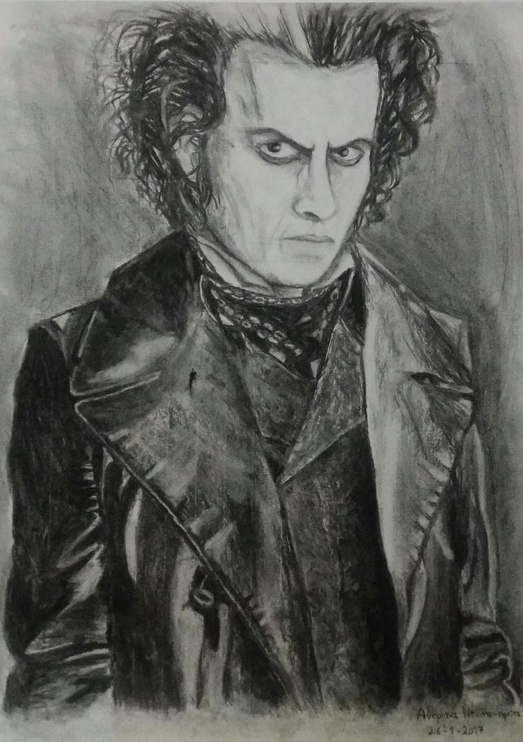 Sweeney Todd - Charcoal Drawing by Zim-BringerOfDoom