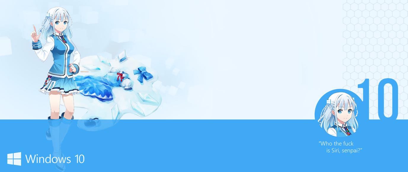 Madobe Touko Windows 10 OS-Tan ultrawide Wallpaper by Nidrax