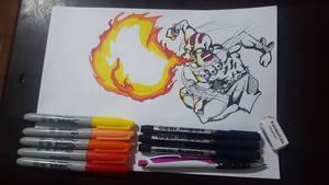 Dhalsim Street Fighter (INKTOBER 2018 ROASTED)