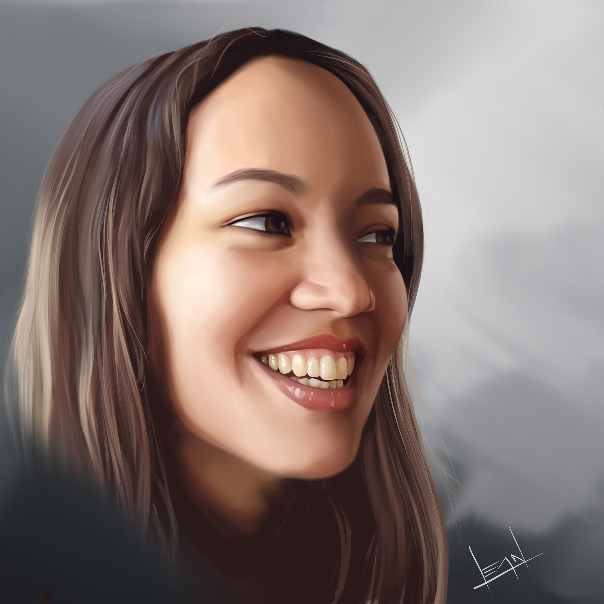 Ana Digital Painting By